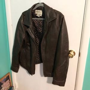 Women's Eddie Bauer Brown Leather Jacket